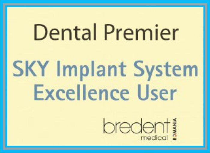 certificat excelenta bredent clinica stomatologica dental premier bucuresti